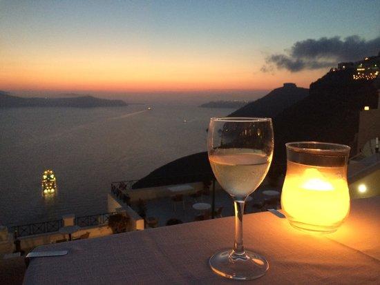 Archipelagos Restaurant: Por do sol