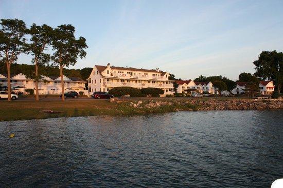 Edgewater Resort: resort from the pier