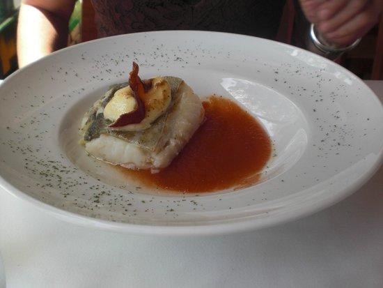 Restaurante El Pinar: Bacalao met tomatencoulis