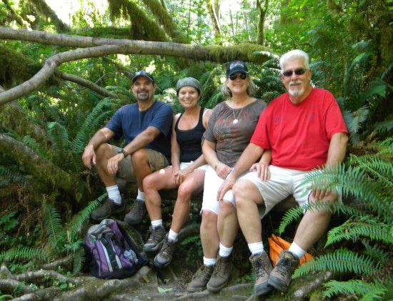 "Wallace Falls State Park: The two ""thick flat landers"" made it up......."
