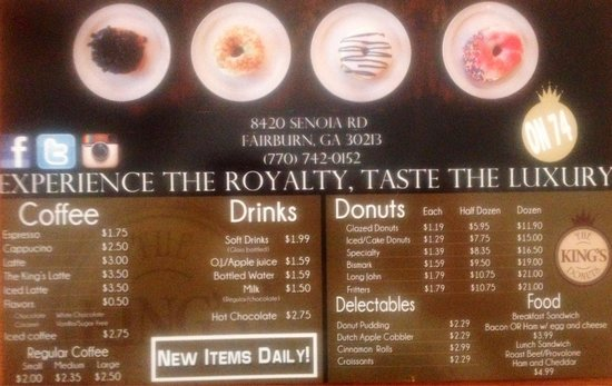 King's Donuts: Great Food