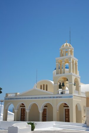 Astra Suites: Church in Oia