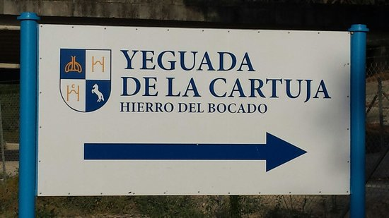 Yeguada de la Cartuja : Cartel de la entrada
