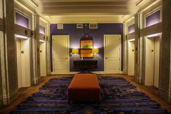 Kimpton Hotel Monaco Baltimore Inner Harbor: Wait for your elevator in style