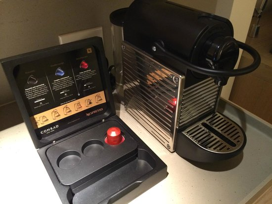 Conrad New York : Best in-room coffee I've had