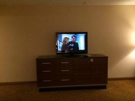 DoubleTree by Hilton San Jose: TV wall - no art on walls