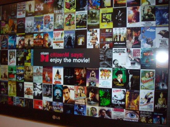 citizenM Rotterdam : Keuze uit talloze actuele films gratis!