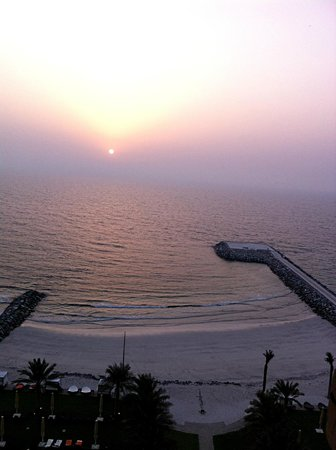 The Ajman Palace Hotel: view from a balcony