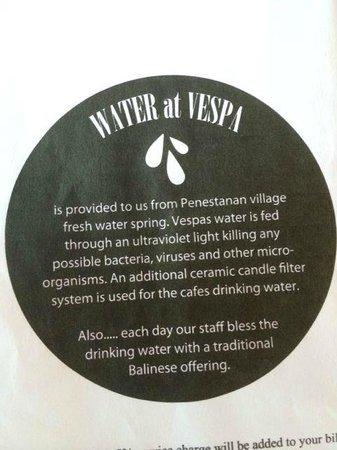 Cafe Vespa: Water
