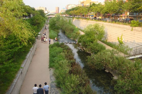 A view of Cheonggyecheon