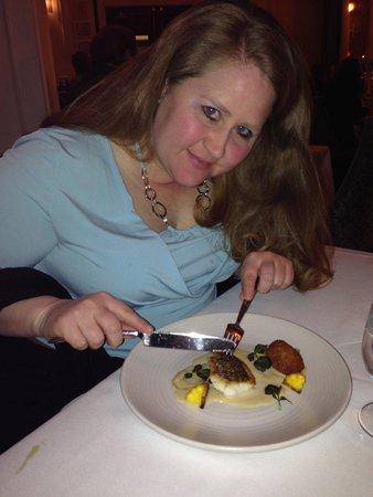 Henri : me, enjoying my meal