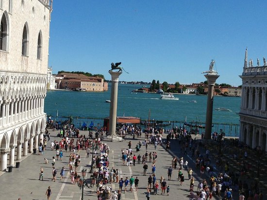 A Guide In Venice : View of St Marks from the church