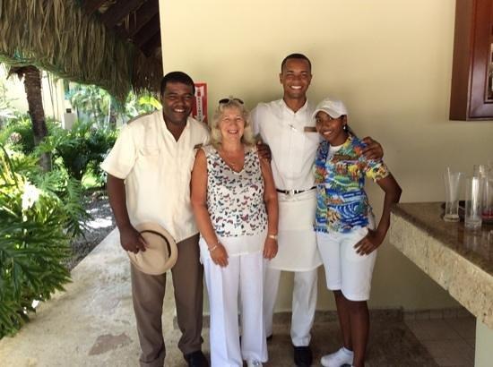 Dreams La Romana Resort & Spa : Johnny, Edwin & Stephanie at the PC pool