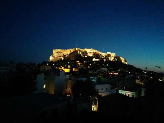 Central Athens Hotel: Acropolis Night View
