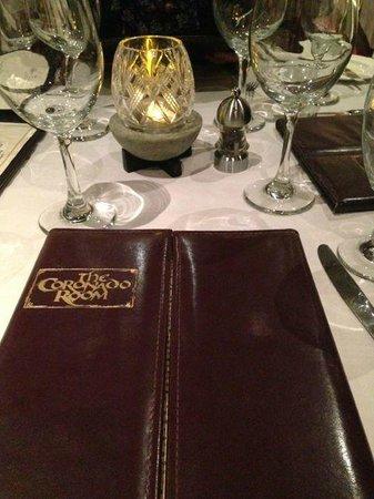 Coronado Room : Menu of the Coronado Dining Room
