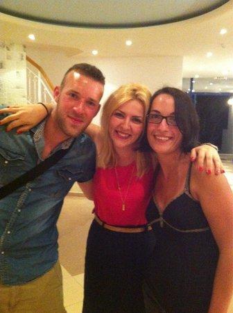 Hara Ilios Hotel : Voici Katerina avec nous que l'on remercie plus que tout !!!
