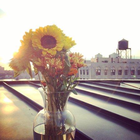 NYLO New York City: I got flowers delivered for my birthday and enjoyed them on my balcony!