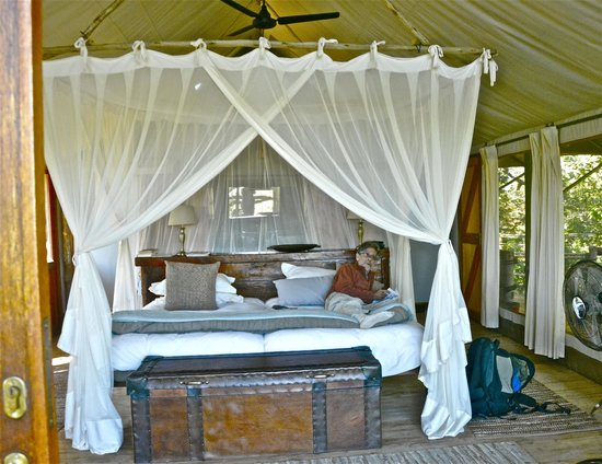 Tubu Tree Camp : Very comfortable large queen bed