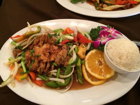 Thai House: Soft shell crab with tamarindo sauce.