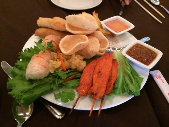 Thai House: Combo of appetizers.
