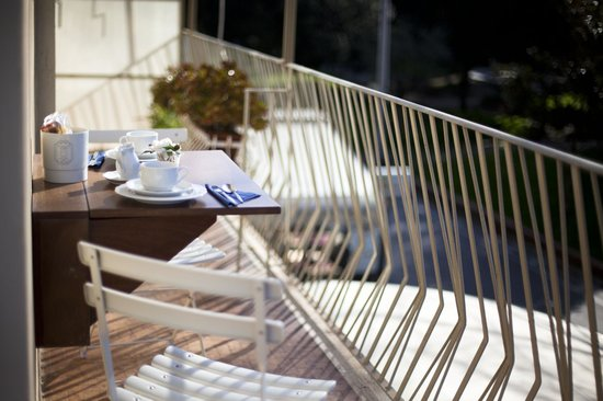 Hotel Garden : breakfast on the balcony