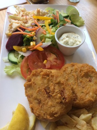 Mr Chippy Restaurant: My fish cakes and salad was fantastic