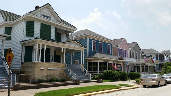 East End Historic District: A row of restored homes
