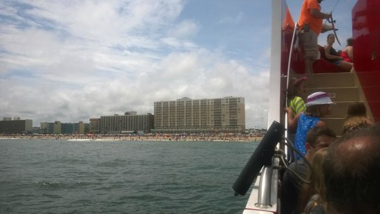SpringHill Suites Virginia Beach Oceanfront: View of the Hotel from Captain Jacks Pirate Cruise