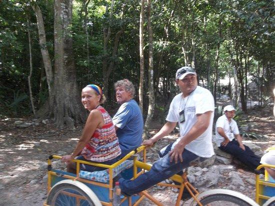 Ruines de Cobá : Pedicab