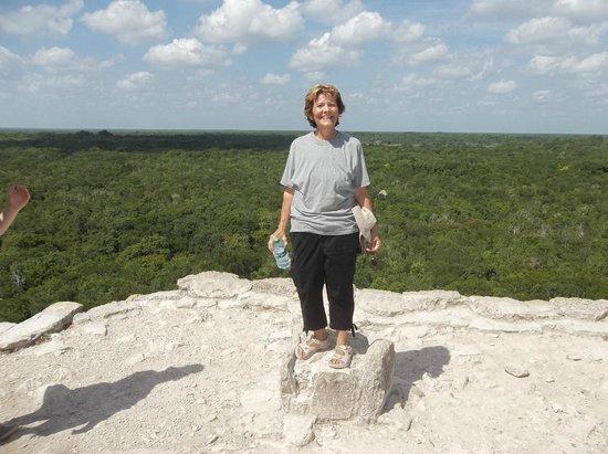 Ruines de Cobá : At the top of Nohoc Mul