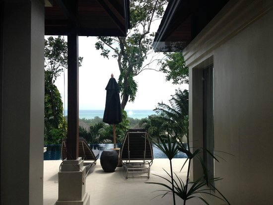 The Pavilions Phuket : A glance from in-room to the private pool