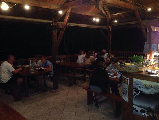 La Bergerie d'Acciola : Diner avec vue sur la vallée