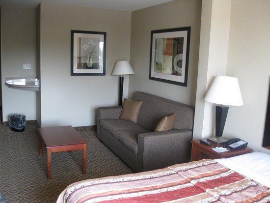 Sleep Inn & Suites: King Suite has a sleeper sofa