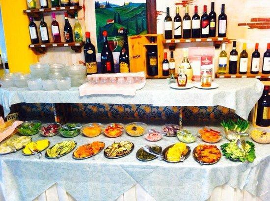 Hotel Villa Claudia: Ricco buffet di verdure e antipasti