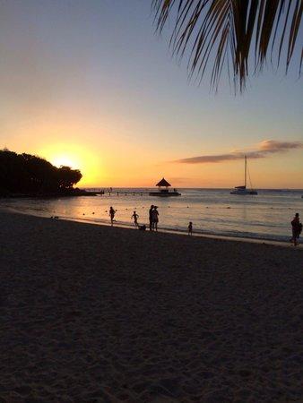 Club Med La Plantation d'Albion: Coucher de soleil