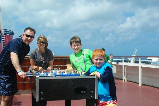 Castaway Cay : Having fun on board