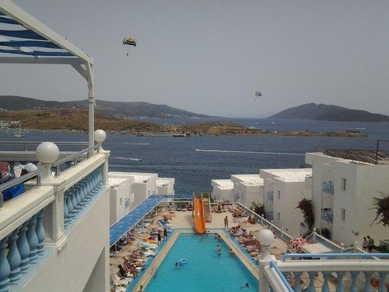 Peda Gumbet Holiday Beach: widok z restauracji