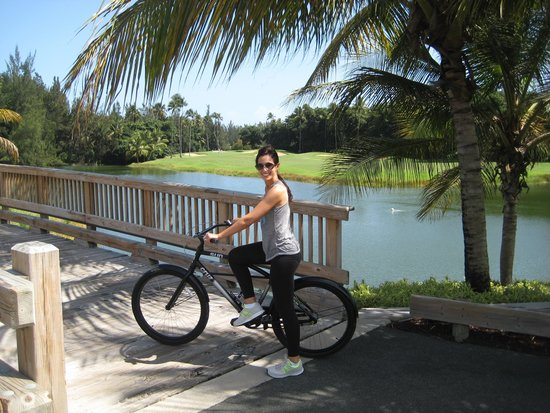 The St. Regis Bahia Beach Resort, Puerto Rico: Biking on the amazing grounds