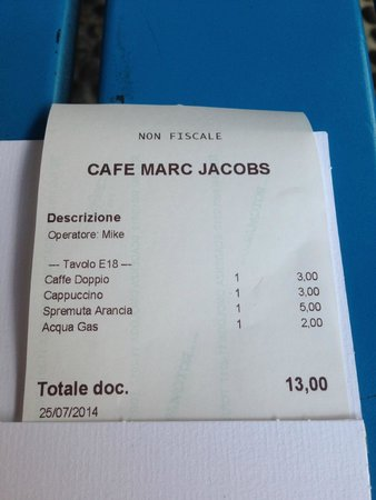finest selection 12e4f 60de3 The most humble bill of the trip - Picture of Marc Jacobs ...