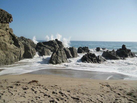 Malibu Adventure Tours Wave Crashing At Sycamore Cove Point Mugu State Park