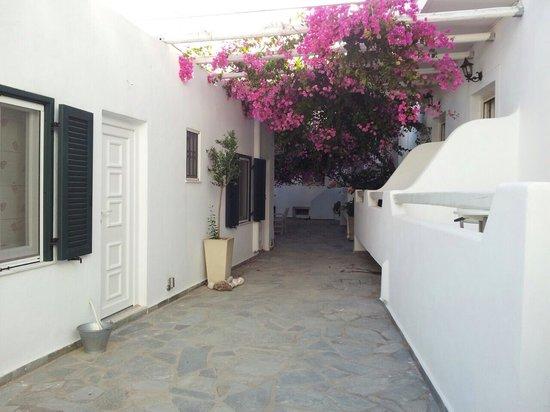 Apollon Boutique Hotel: cortile interno