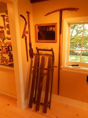Elverhoj Museum: Farm tools + sled