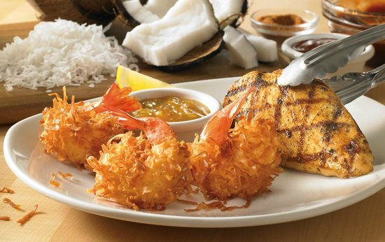 Outback Steakhouse: Delicious Chicken with Coconut Shrimp