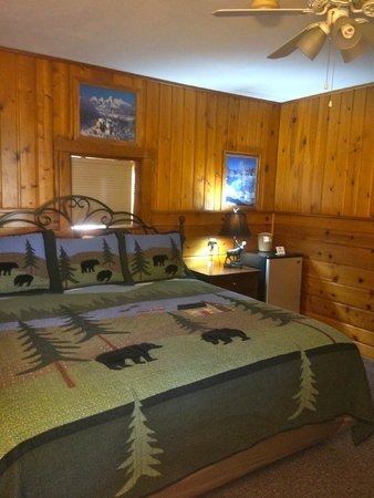 Alpine Motel: Lovely Knotty pine decor