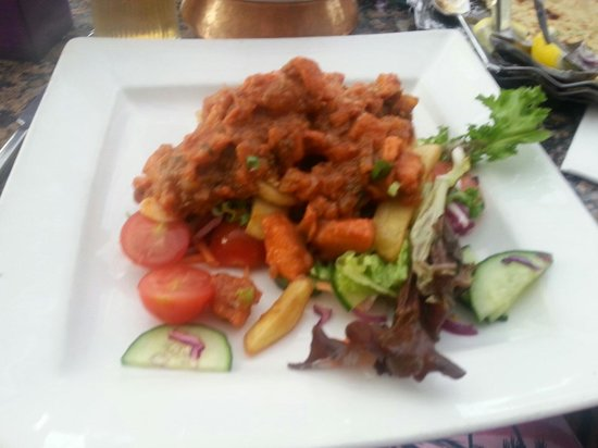 Maharajah Indian Restaurant : Chicken pathia and side salad