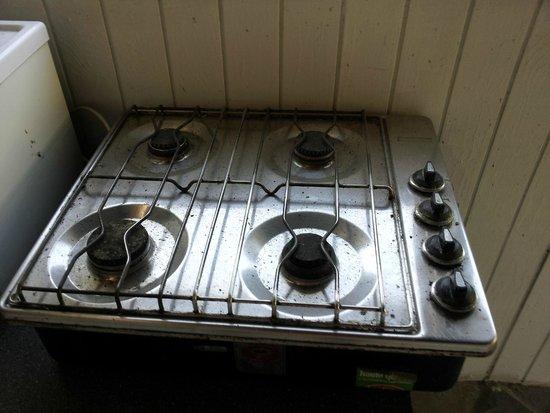 Taasinge Camping: Køkkenrummets kogeplade