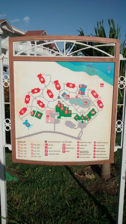 Memories Flamenco Beach Resort : Layout of resort