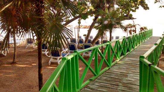 Memories Flamenco Beach Resort : Deck to Beach