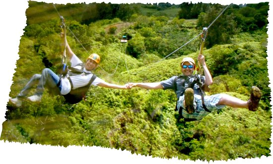 Waipouli Beach Resort: zipline!