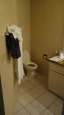 Alexis Park Resort: Main Bedroom toilet. No door.